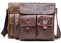 fb75918481ad Мужская кожаная сумка Ox Bag Crossbody (коричневая, натуральная кожа)