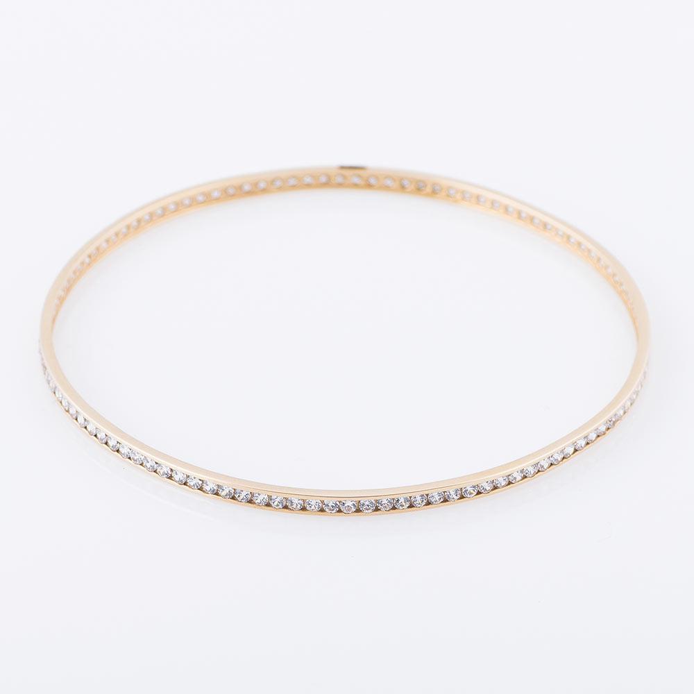 Золотий браслет з фіанітами гб01129