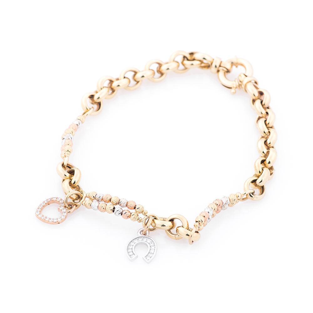 Золотой браслет (фианиты) гб02375