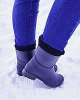 Резиновые сапоги женские на каблуке только 41 размер