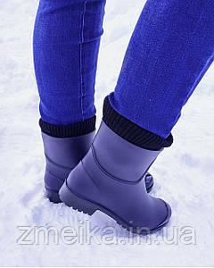 Резиновые сапоги женские на каблуке