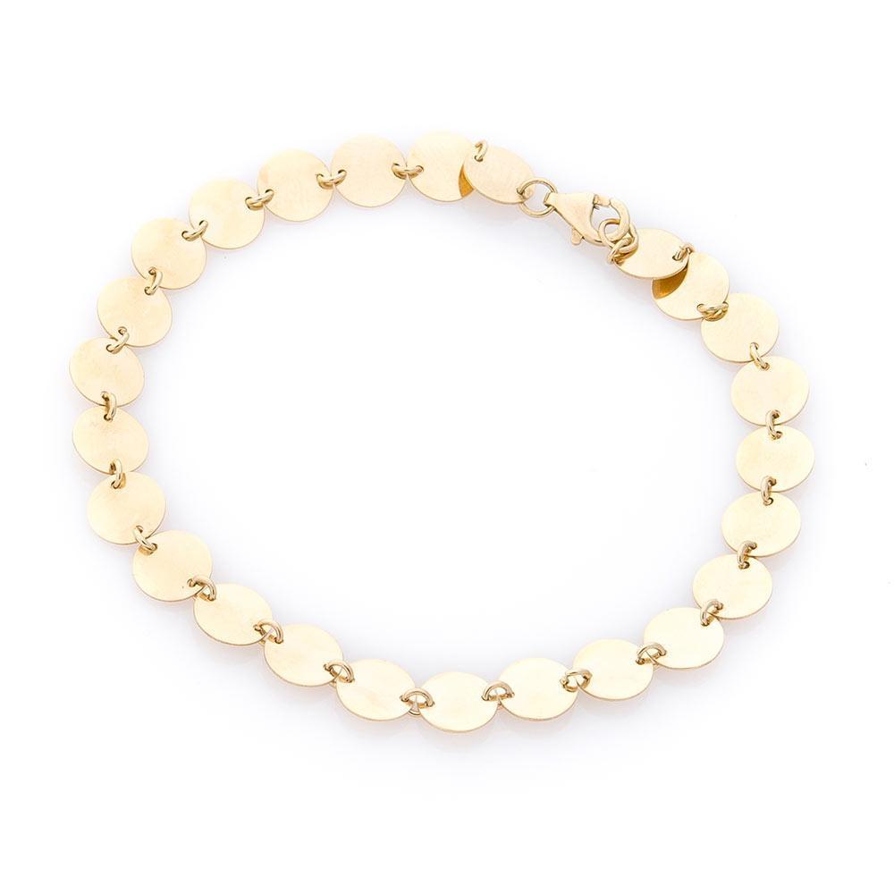 Золотой браслет с кружочками гб03759