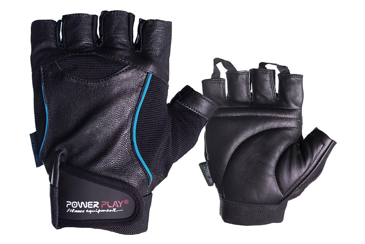 Рукавички для фітнесу PowerPlay 2128 Чорні M
