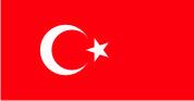 Флаг Турции 0,9х1,35 м. шелк