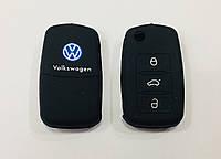 Силіконовий чохол на ключ 3 кнопки Volkswagen чорний