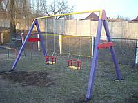 Качели  2-х местные детские игровые уличные