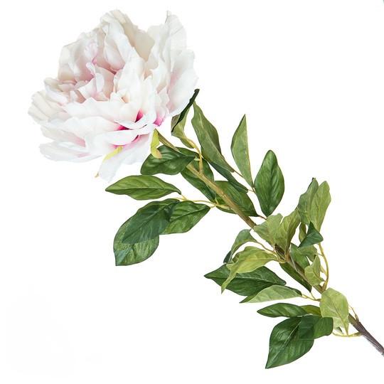 Искусственный розовый пион (117 см.)