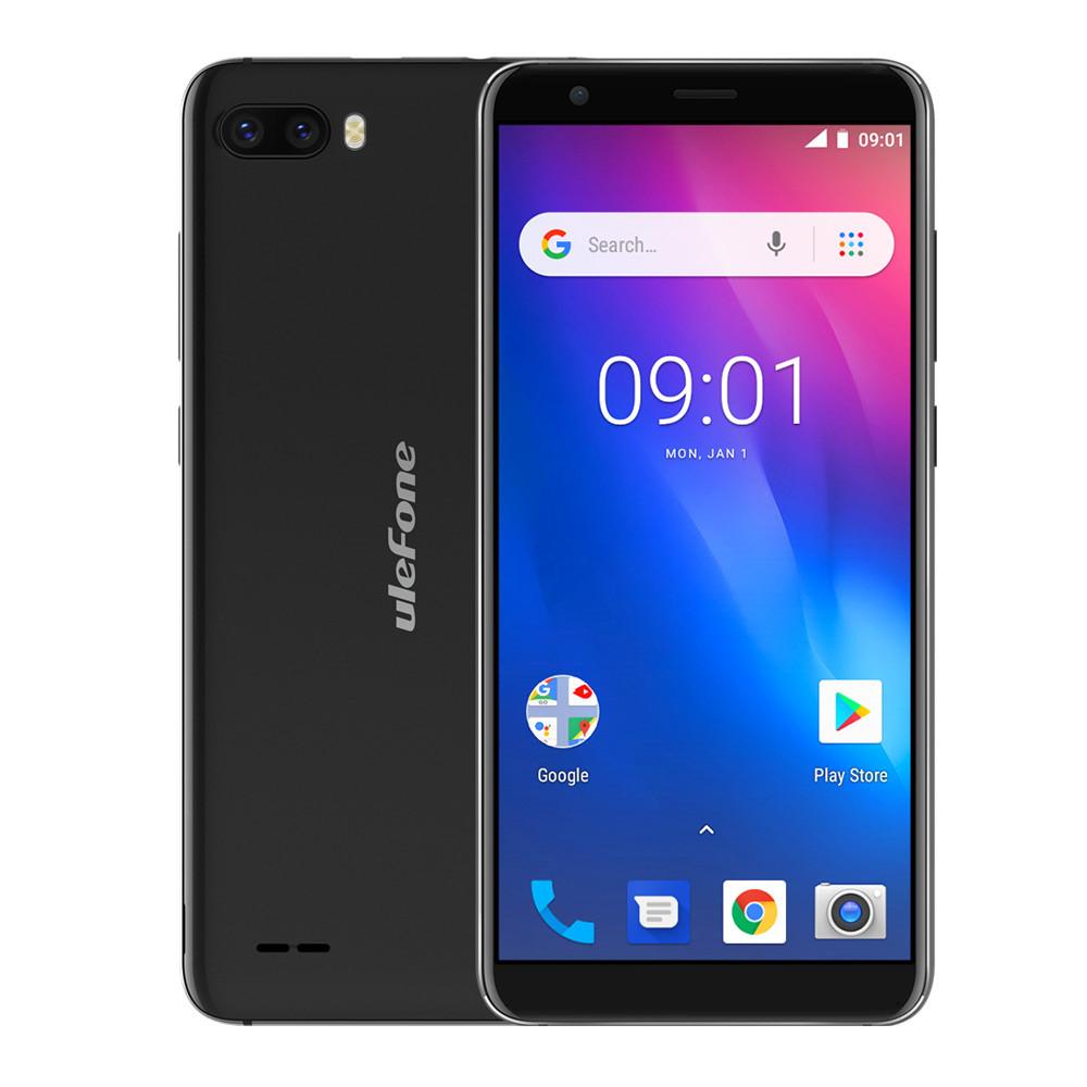 """Смартфон Ulefone S1 1/8Gb Black, 8+5/5Мп, 5,5"""" IPS, 2SIM, 3G, 3000мА, 4 ядра"""