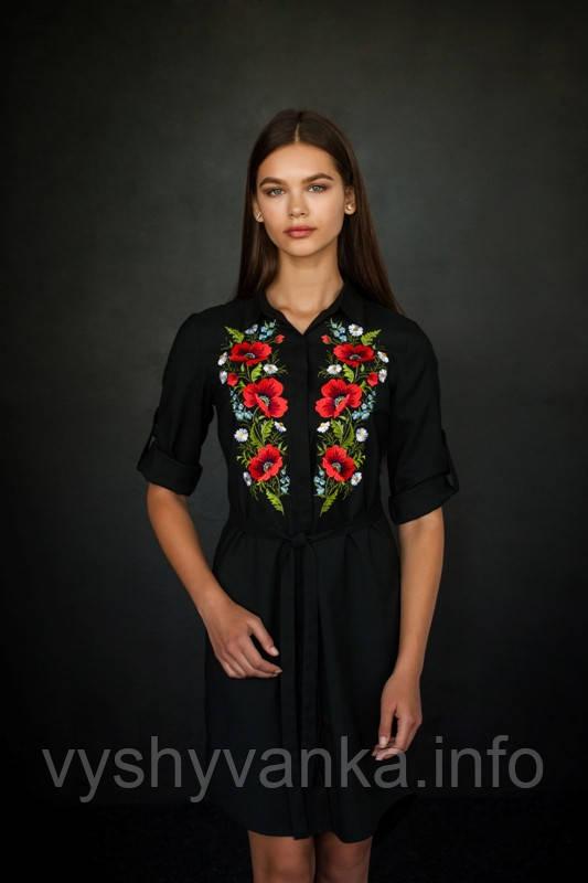 c44db6a1949 Платье рубашка черное (вышиванка украинская)