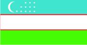 Флаг Узбекистана 0,9х1,8 м. шелк