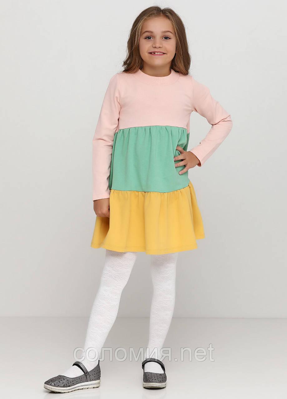 Яскрава бавовняна сукня для дівчинки 128-152р