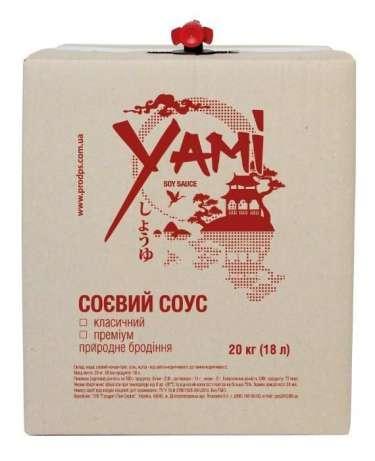 """Соус соевый """"Yami Premium"""" 18 л"""