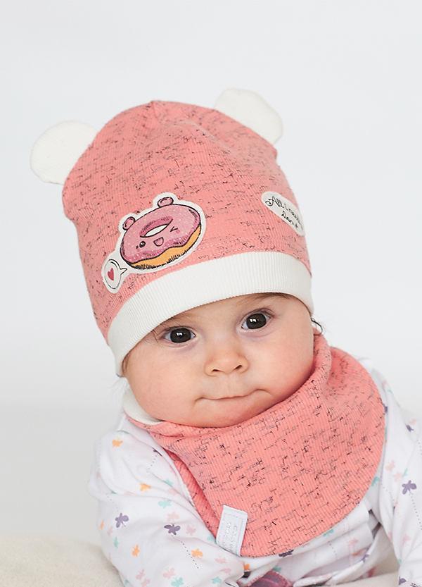 Детская шапка МИМИ (набор) для малышей оптом размер 42- 44-46