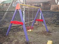 Качели  1-но местные детские игровые уличные