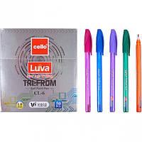Ручка масляная LUVA tri-from Cello синяя  1 упаковка (50 штук)