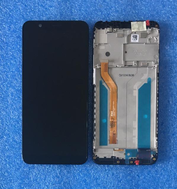 Дисплей Asus ZenFone Max Plus M1 ZB602KL с тачскрином и рамкой черный Оригинал