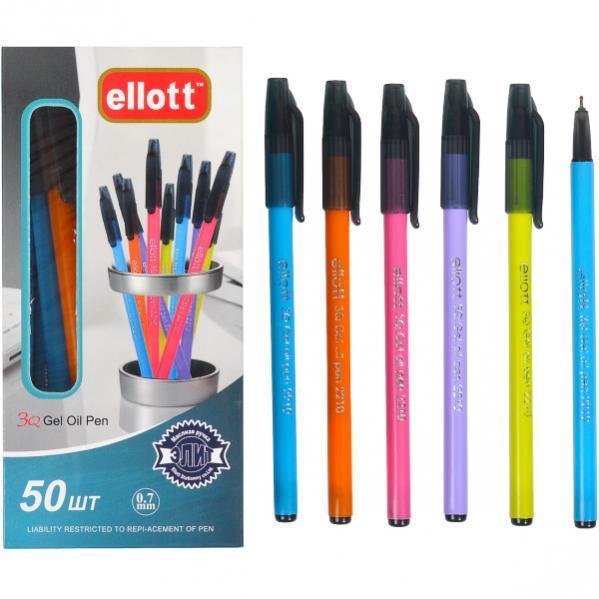 Ручка масляная «Ellott»  синяя 1 упаковка (50 штук)                    ЕТ2210