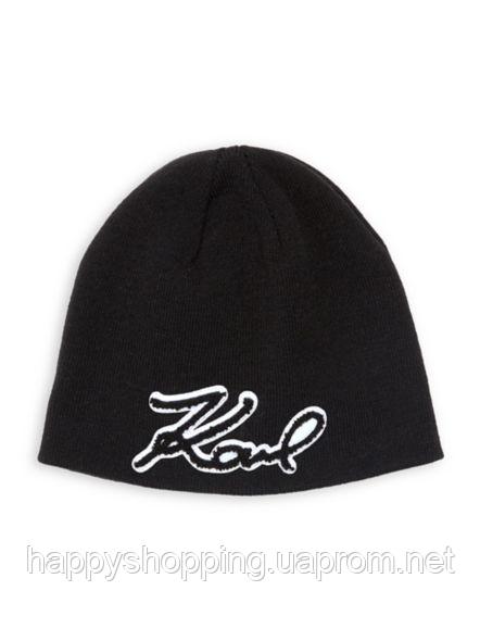 Черная шапка Karl Lagerfeld Paris