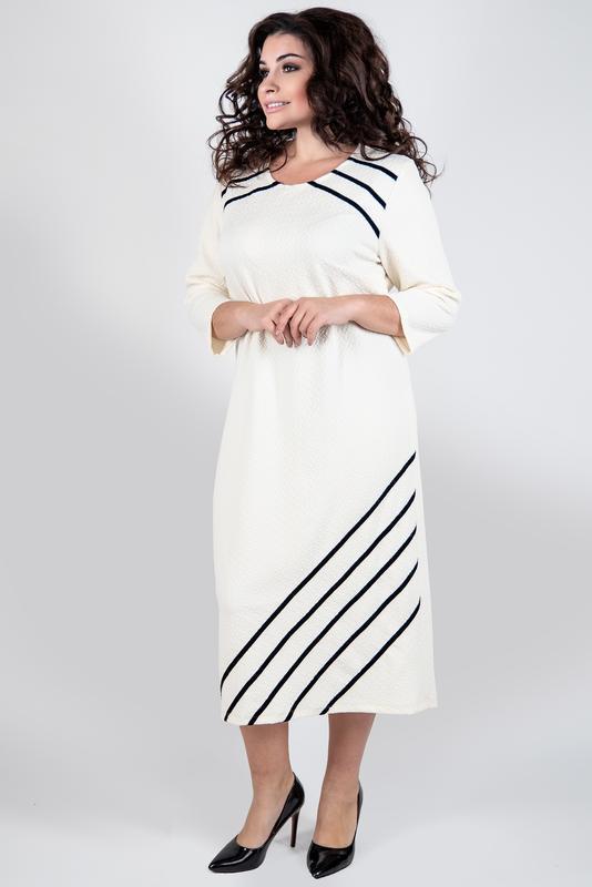 Платье женское офисное деловое повседневное большие размеры: 52-60