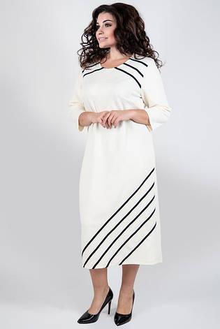 Платье женское офисное деловое повседневное большие размеры: 52-60, фото 2