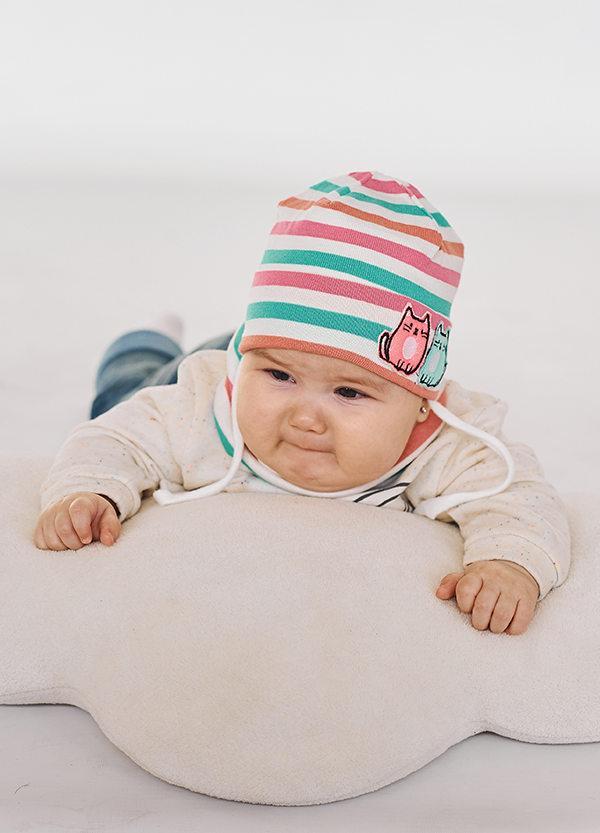 Детская шапка РИЯ (набор) для малышей оптом размер 44-46-48