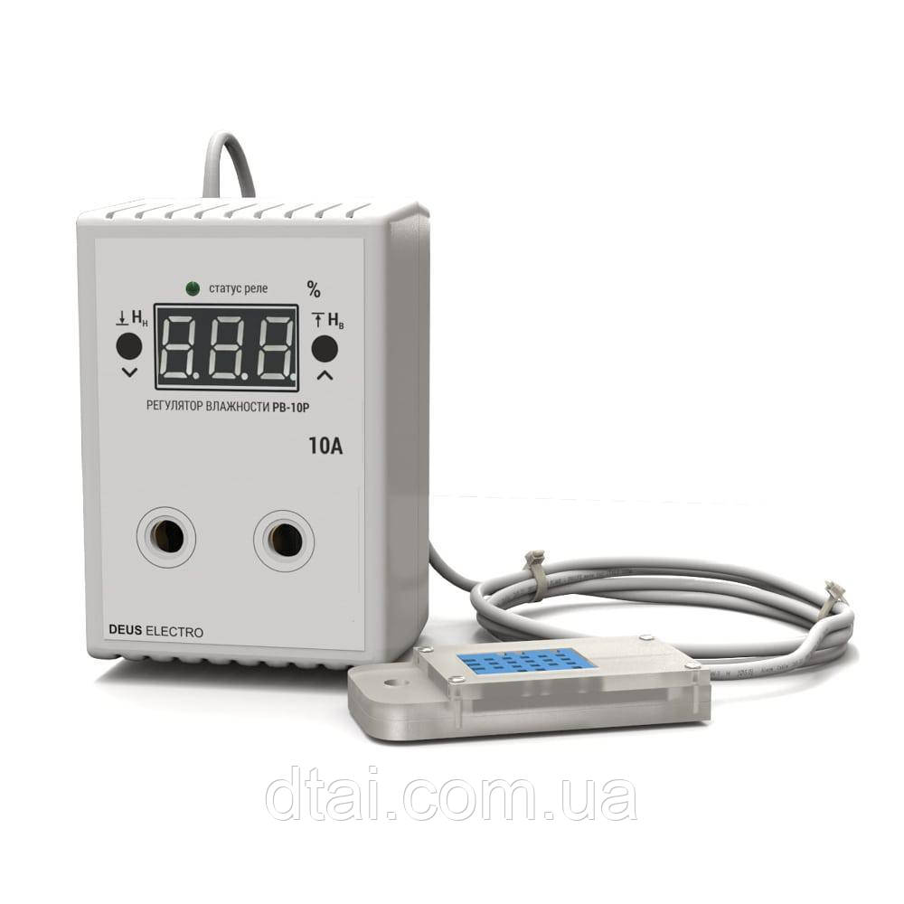 Регулятор-измеритель влажности цифровой в розетку РВ-10Р-DHT11 (220В, 10А)