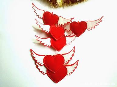 Набор сердец подвесных 6 шт арт 2011