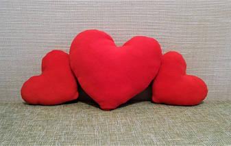 Подушка декоративная Сердце красное 30 см, фото 2