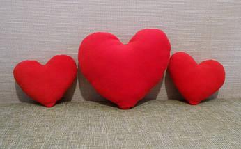 Подушка декоративная Сердце красное 30 см, фото 3