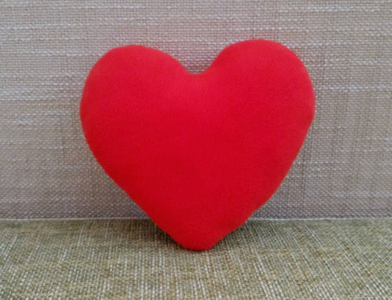 Подушка декоративная Сердце красное 21 см, фото 2
