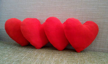 Подушка декоративная Сердце красное 21 см, фото 3