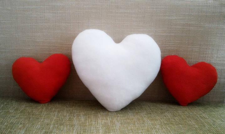 Подушка декоративная Сердце белое 40 см, фото 2