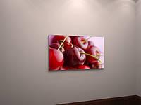 Картина печать на холсте настенный декор для кухни Вишни Ягоды Фркты Натюрморт 60х40хни холст часы