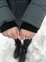 Зимняя куртка для беременных 2в1 со вставкой для живота 44 46 48, фото 2