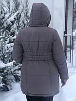 Зимняя куртка для беременных 2в1 со вставкой для живота 44 46 48, фото 3