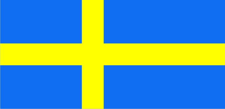 Флаг Швеции 0,9х1,45 м. шелк