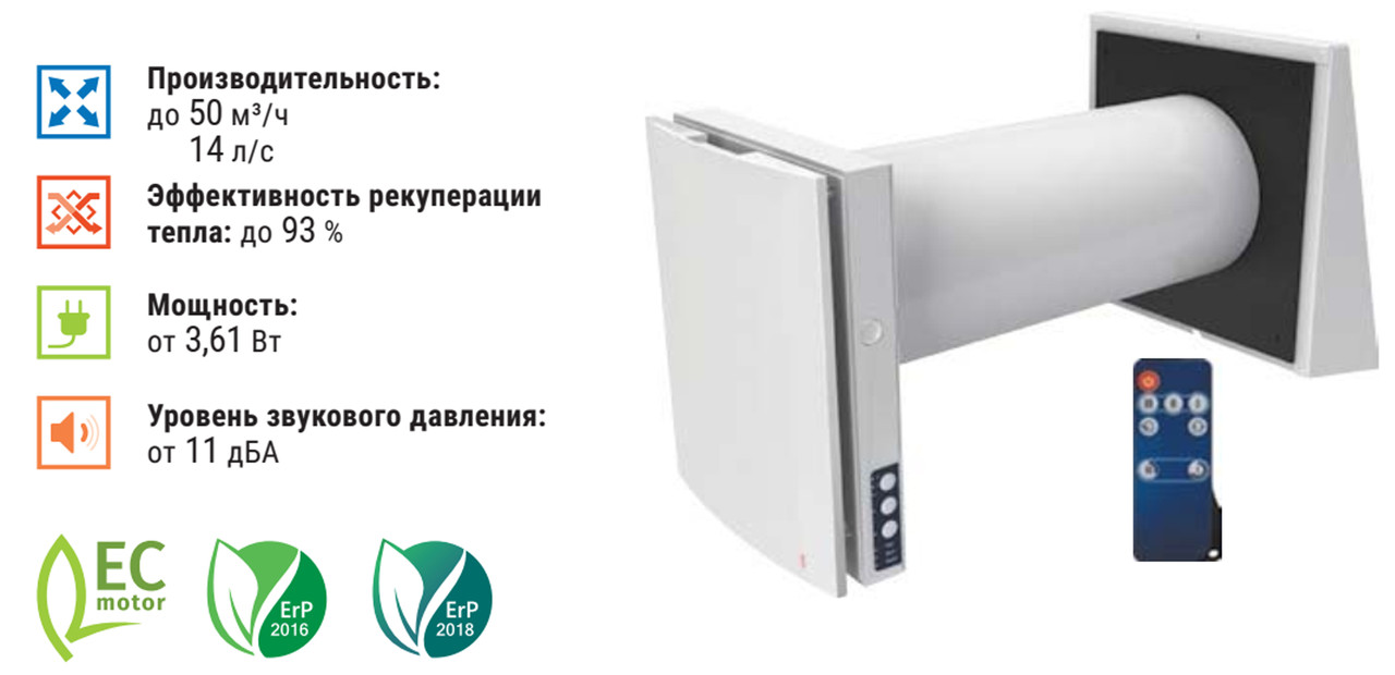 Blauberg VENTO Expert A50-1 PRO W. Комнатные установки с ...
