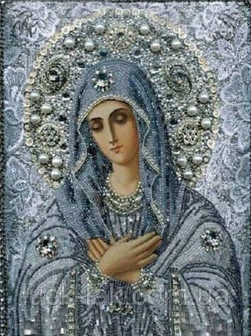 Алмазная вышивка, икона, 30х40см, полная выкладка, зеркальные стразы