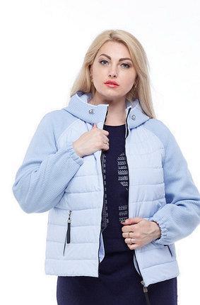 Куртка короткая большие размер от 42 до 56 плащевка плюс трикотажный довяз с капюшоном