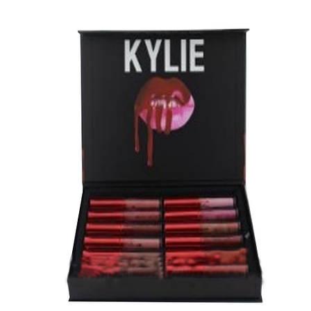 Набор Стойких Жидких Матовых Помад Kylie Short Lip Блеск Для Губ 12 шт, фото 2