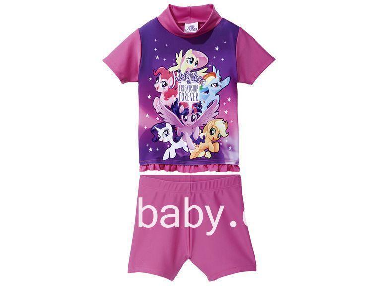 Купальний костюм, купальник дитячий на дівчинку My Little Pony 6-12 міс, ріст 74/80