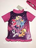 Купальний костюм, купальник дитячий на дівчинку My Little Pony 6-12 міс, ріст 74/80, фото 8