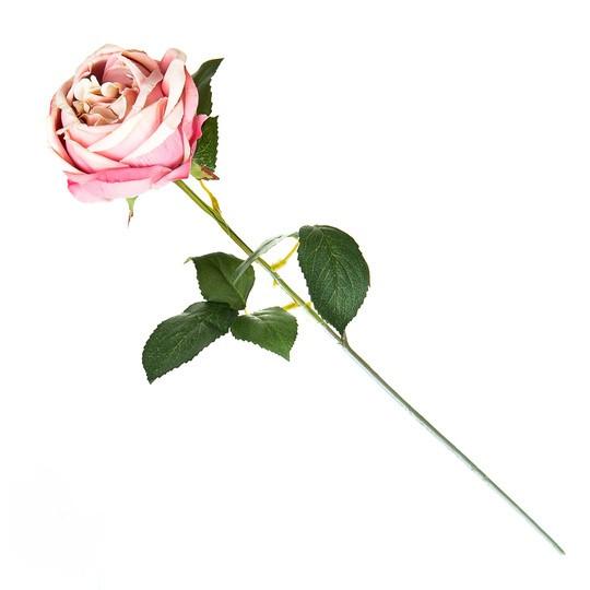 Искусственная персиковая роза.( 65 см )