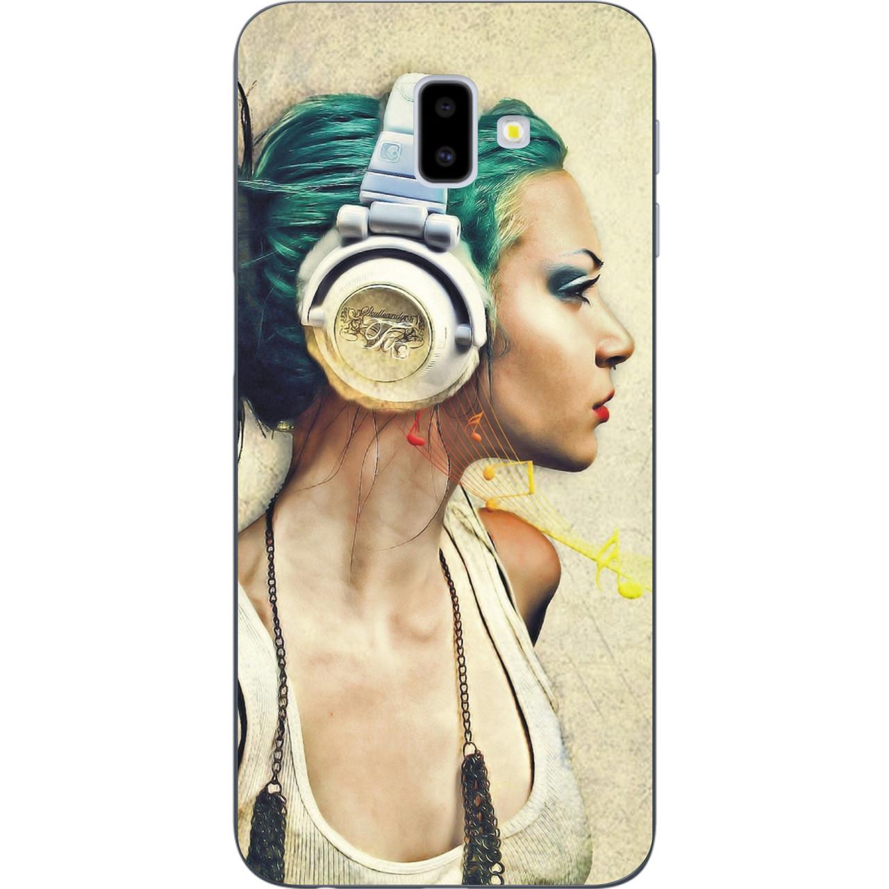 Оригинальный чехол накладка для Samsung Galaxy J6 Plus 2018 с картинкой Музыка