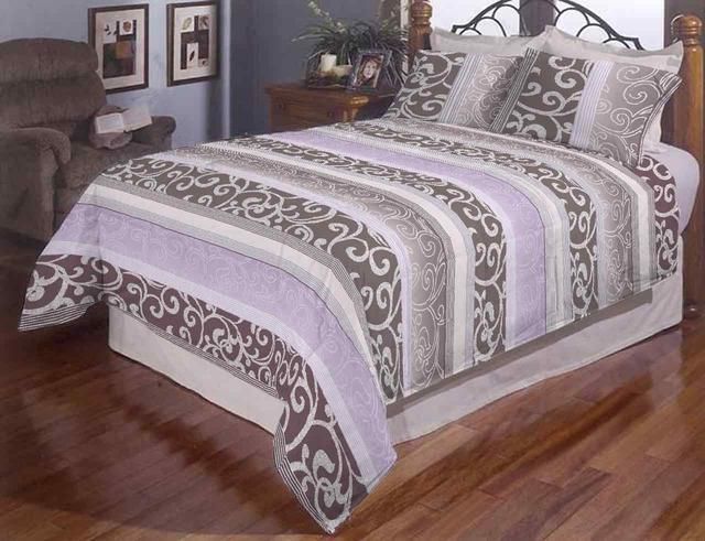 Комплект двуспального постельного белья Завиток в полоску