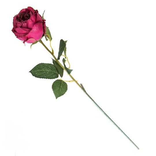 Искусственная красная роза.( 65 см )