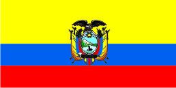 Флаг Эквадора 0,9х1,8 м. шелк