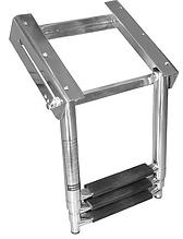 Нержавеющая телескопическая лестница для монтажа под палубу