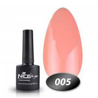 Гель-лак Nice for you №05 (розово-персиковый), 8,5 мл