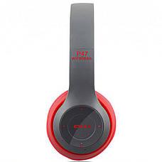Bluetooth наушники MDR P47 (КРАСНЫЕ), фото 3